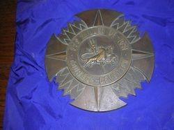 ORIGINAL plaque off of the podium on the quarterdeck