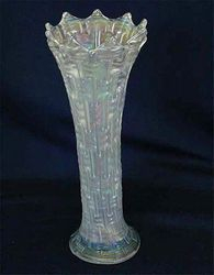 "Big Basketweave 10"" vase, white"