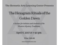 The Hexagram Ritual of the Golden Dawn