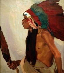 Blumenshein, Eagle Feather Prayer Chant, 1915 (reworked 1920s), Colby College