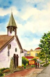 The Church of the Wayfarer #2 (Portrait View), Carmel