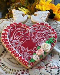 Heart with doves 2