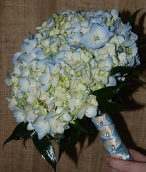 Blue Hydrangea Bridemaid Bouquet