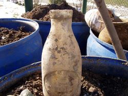 Late 1880s Milk bottle.