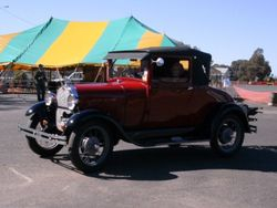 An Old Vehicle during the Parade