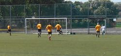 DARREN CROSSES FOR OUR SECOND GOAL,(OWN GOAL)