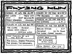 Flying Nun Advert 1982
