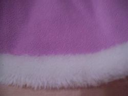 Lavender skirt closeup fur trim