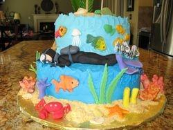 Scuba Instructor Cake