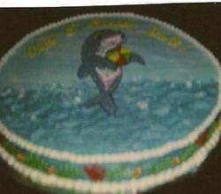 Lisa Frank Dophin Cake