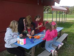 The children enjoy fun and crafts on saturday!