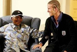 Mandela and David Beckham