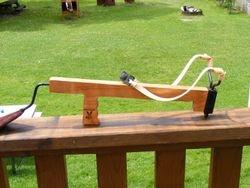 Long arm rifle slingshot