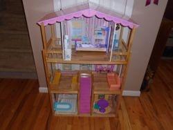 KidKraft Savannah Wood Dollhouse with Furniture - $65