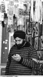 A mobile phone seller, Shepherd's Bush Market