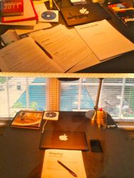 Desk Before...