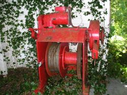 Discovery Island lighthouse boathouse winch.