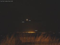 Distant view (city lights and celestial objects)