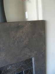 Stone Effects Cement Fireplace