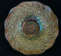 "Persian Medallion 9"" plate - blue"
