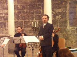 Paul conducting 'Five Poems' in Genova