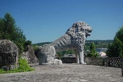 The lion at the Betanzos El Pasatiempo gardens
