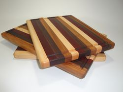 Cherry, Walnut, Paduak, Maple Edge-Grain Cutting Baord