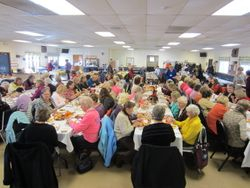 76 MWC members having lunch