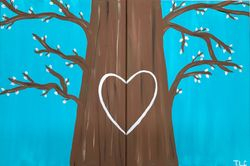 Couples Paint Tree