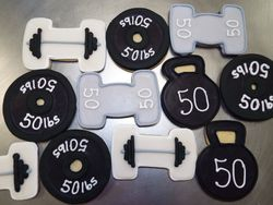 weight lifting cookie assortment $3/each