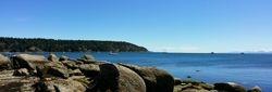 panaorama of Tribune Bay, Hornby Island