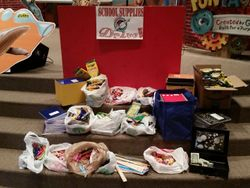 Tons of school supplies collected for Operation Christmas Child