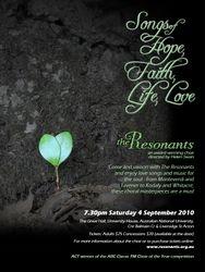 Songs of hope, faith, life, love