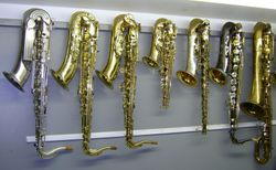 Saxophones in Repair