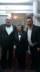 Post concert shot 1 of both conductors with the orchestra's manager