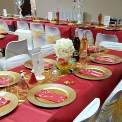 Dinner - Red & Gold Theme
