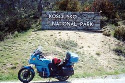 Tom's K75RT entering Mount Koscuisko National Park - Oct 1996