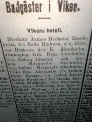 Vikens hotell 1911