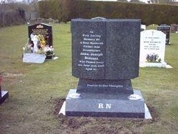 South African dark grey granite book memorial