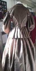1850's walking dress Back