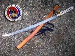 Custom Made White Ito Spring Steel Katana Sword