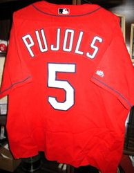 Albert Pujols 2001 Game Used Batting Practice Jersey
