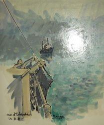 Mer d'Irlande les D.O  24 x 21 cm