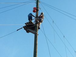 Matt Whisenant climbs to zip line platform