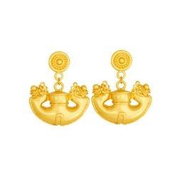 Aretes de colgar - Precolumbian dangling earrings