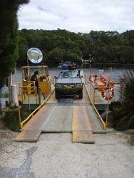 Fatman Ferry over the Pieman River