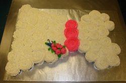 wedding dress cupcake cake $3 per cupcake