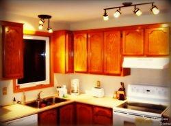 Kitchen lighting fixtures installation