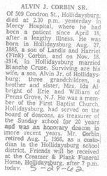Corbin, Alvin Sr. 1962