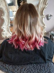 Pink Balayage Ombre Hair